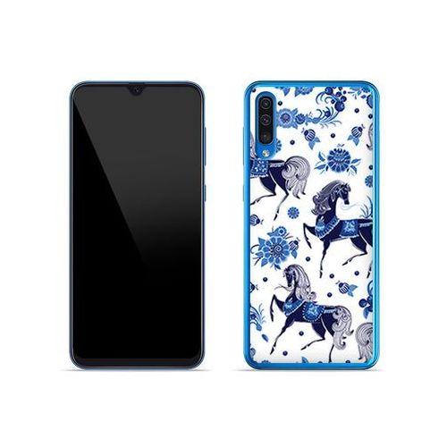 Samsung galaxy a50 - etui na telefon fantastic case - folkowe niebieskie konie marki Etuo fantastic case