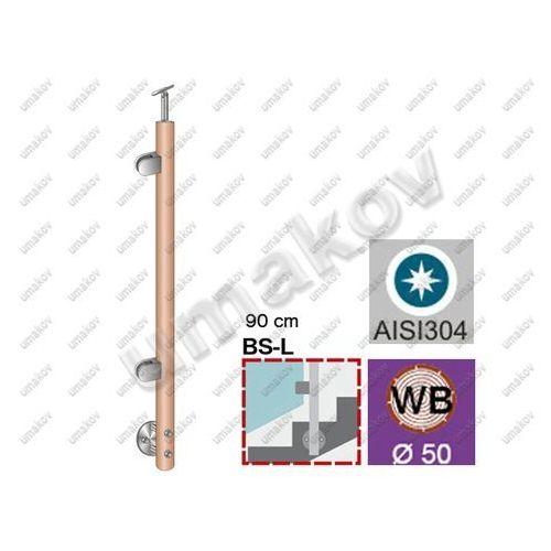 Stĺpik BUK, bočné kotvenie - ľavý - na schody AISI