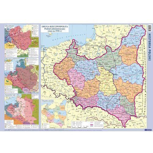 Polska mapa ścienna fizyczno-administracyjna i konturowa 1:1 500 000, oprawa miękka