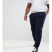 Asos design plus skinny joggers with contrast wasitband in beige - beige