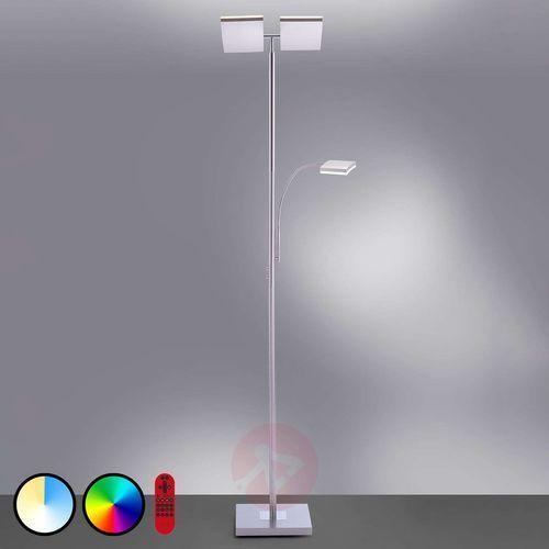 Leuchten direkt Lampa stojąca ls-ruben led stal nierdzewna, 2-punktowe, zdalne sterowanie, zmieniacz kolorów - lokum dla młodych - obszar wewnętrzny - ls-ruben - czas dostawy: od 2-3 tygodni (4043689961336)