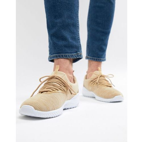 knitted trainers in stone - stone marki New look