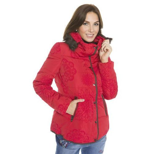 Desigual kurtka damska Cecilia 38 czerwony, kolor czerwony