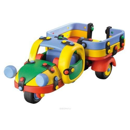 Mic-o-mic - zabawki konstrukcyjne Zestaw do składania mic-o-mic wesoły konstruktor ciężarówka trzykołowa (4260126572522)