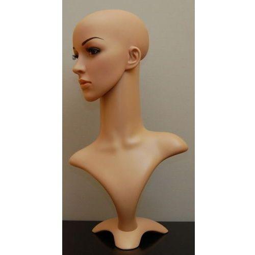 Manekin plastikowy - popiersie damskie z głową kolor cielisty, 00841