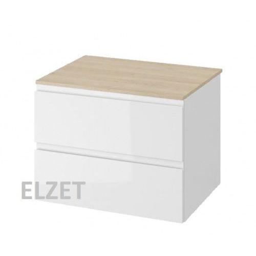 szafka moduo biały połysk pod umywalkę nablatową + blat 80 s929-008+s590-023 marki Cersanit