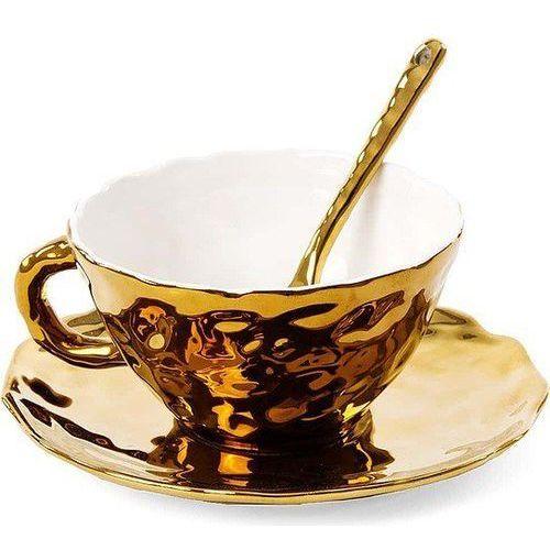 Filiżanka do herbaty ze spodkiem i łyżeczką Fingers, 09931