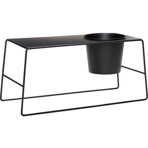 Stolik hübsch czarny metalowy z doniczką (5712772066270)