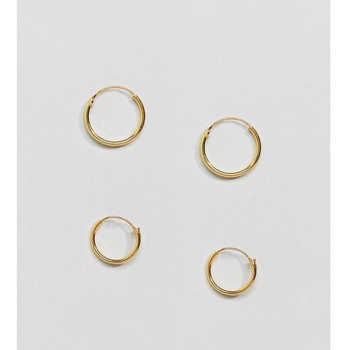 Kingsley Ryan Gold Plated Mini Hoop Earrings Set - Gold