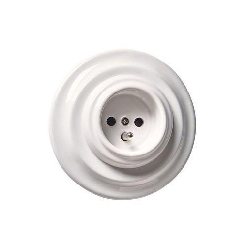Gniazdo pojedyncze cla5002 biały marki Dpm