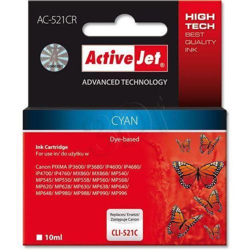 Activejet AC-521CR tusz cyan do drukarki Canon (zamiennik CLI-521C) Darmowy odbiór w 20 miastach!, EXPACJACA0094