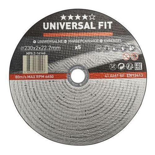 Zestaw tarcz do metalu 230 x 2 mm 5 szt. marki Universal