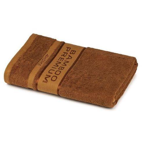 ręcznik kąpielowy bamboo premium brązowy, 70 x 140 cm, 70 x 140 cm marki 4home
