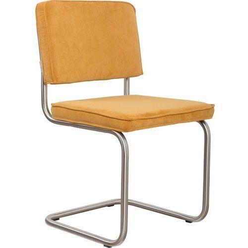 krzesło ridge brushed rib żółte 24a 1100087 marki Zuiver