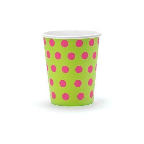 Party deco Kubeczki papierowe kropki - 200 ml - 6 szt.