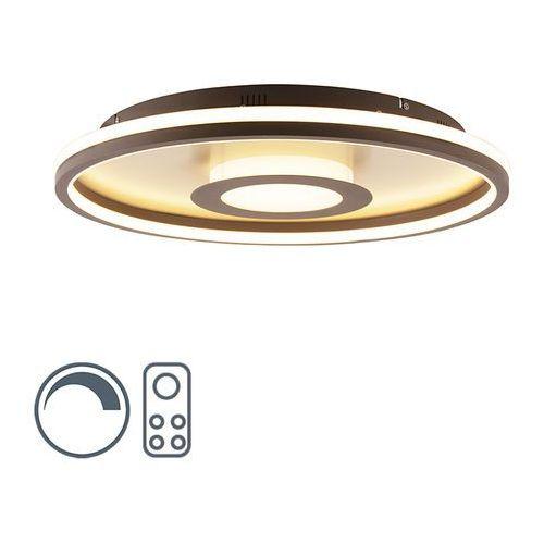 Designerska lampa sufitowa złota 60 cm z pilotem, w tym led - oculus marki Honsel