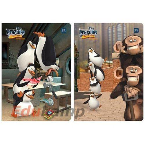 Zeszyt do słówek A6 16k. INTERDRUK UV Pingwiny z Madagaskaru kratka