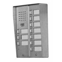 5025/10D Bramofon 10-przycisków stal nierdzewna, z daszkiem 2 rzędowy Miwi-Urmet