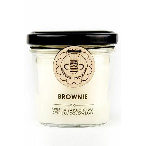 Miodowa mydlarnia brownie świeca zapachowa z wosku sojowego