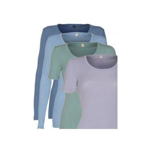 Koszulka damska z wełny merynosów (100%) - krótkie rękawy - pastelowe kolory - dilling marki Dilling (dania)