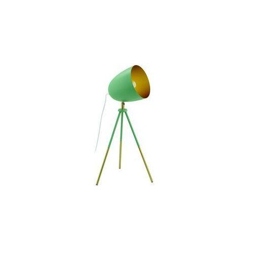 Lampka stołowa Eglo Chester-P 49047 1x60W E27 pastelowy ciemny zielony/złoty, 49047