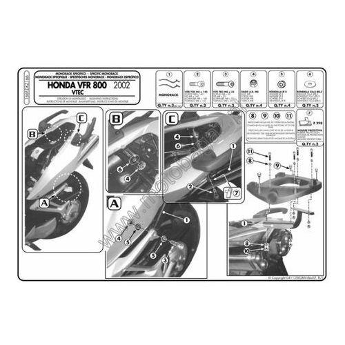 Stelaż pod kufer centralny do Honda VFR800VTEC [02-11] - Givi 166FZ (zgodny z Kappa KZ166)