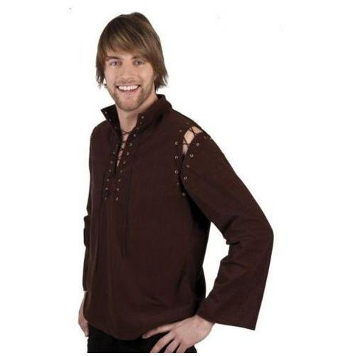 Koszula średniowieczna brązowa - l, xl - stroje/przebrania dla dorosłych, Aster