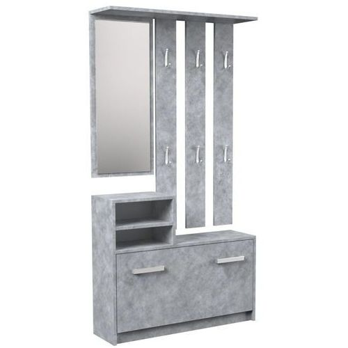 Garderoba wieszak lustro szafka na buty / Beton, TS-0489