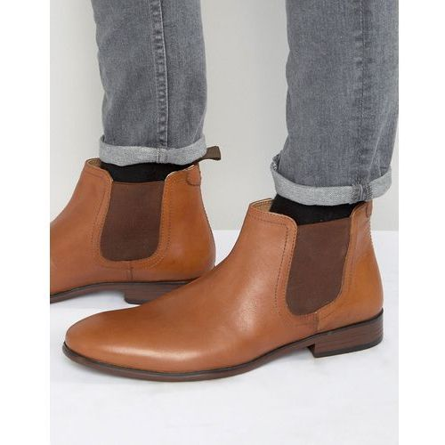 chelsea boots in tan leather - tan marki Red tape