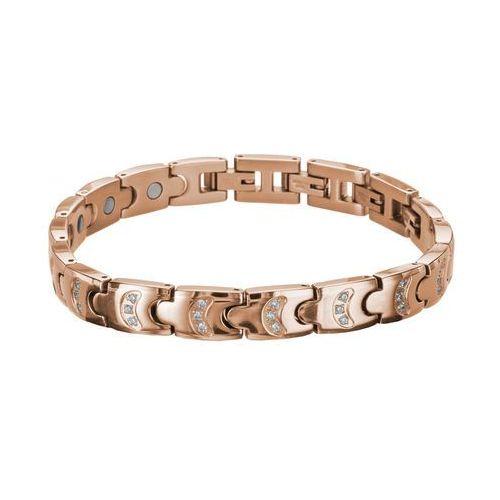 Bransoletka magnetyczna inSPORTline Rosila, Różowe złoto (8596084039606)