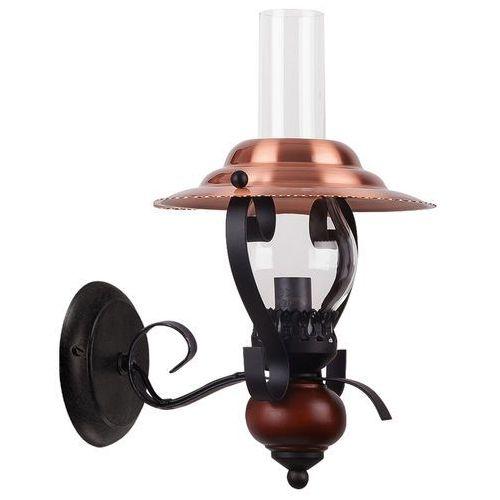 Kinkiet LAMPA ścienna ENNA 7868 Rabalux klasyczna OPRAWA naftowa drewno miedź czarny przezroczysty, 7868
