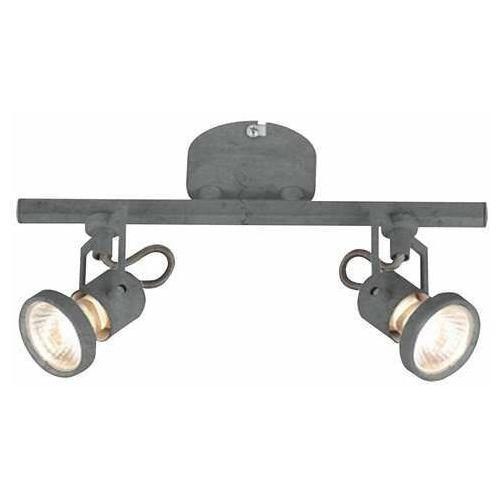 Listwa lampa sufitowa oprawa plafon spot Britop Lighting Concreto 2x50W GU10 szary 2727232 (5902166903285)
