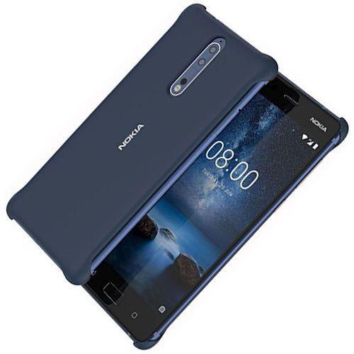 Etui NOKIA Soft Touch Case CC-801 do Nokia 8 Granatowy, kolor niebieski