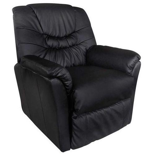 vidaXL Fotel wypoczynkowy, masujący, podgrzewany, czarny (8718475804468)