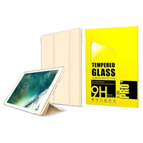 Etui Alogy Smart Case iPad 9.7 2017 / 2018 silikon Złote + Szkło - Złoty