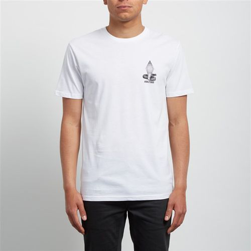 koszulka VOLCOM - Digitalpoison Bsc Ss White (WHT) rozmiar: L