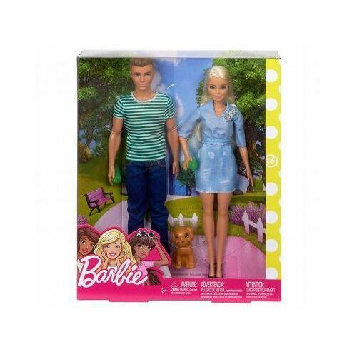 Lalka Barbie i Ken Spacer z Pieskiem FTB72