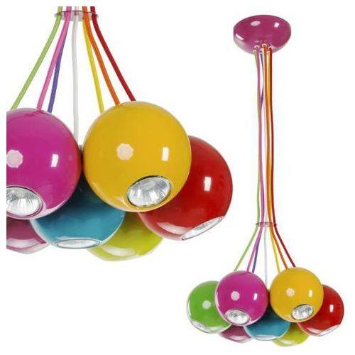 Dziecięca LAMPA wisząca MALWI 6327 Nowodvorski metalowa OPRAWA zwis kule balls multikolor