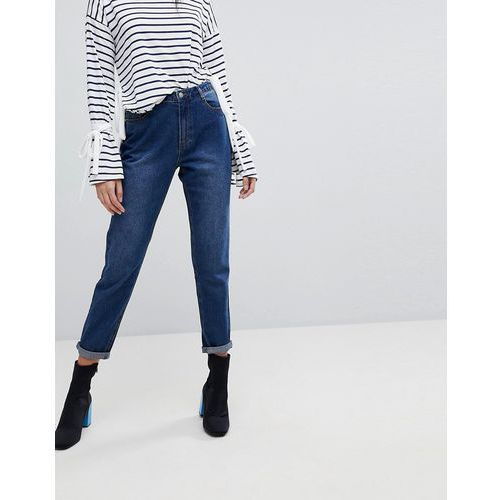 Missguided Riot High Rise Mom Jeans - Blue, jeansy