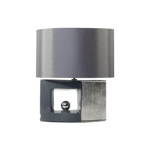 Nowoczesna lampka nocna - lampa stojąca w kolorze szarym - DUERO (7081453866927)