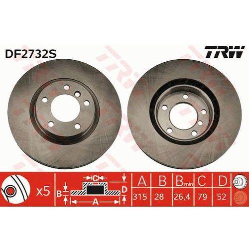 Trw Tarcza ham df2732s bmw e36 m3 3.0 94-95, 3.2 95-98, z3 m 3.2 01-03 przód prawy