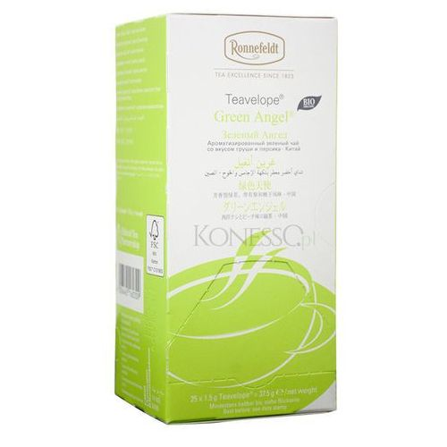Zielona herbata  teavelope green angel bio 25x1,5g marki Ronnefeldt