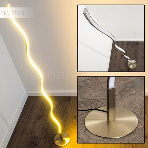 Hofstein Dillon lampa stojąca led nikiel matowy, 1-punktowy - design - obszar wewnętrzny - dillon - czas dostawy: od 3-6 dni roboczych (4058383000588)