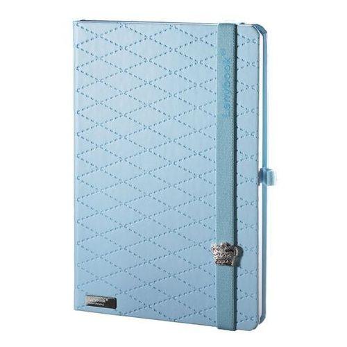Lediberg Notes a6 lanybook glamorous beauty w kratkę niebieski (8057432194427)