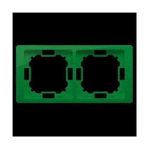 Ramka 2-krotna NEOS – uniwersalna poziom i pion; miętowy - produkt z kategorii- Ramki do gniazd i włączników