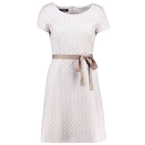 Żakardowa sukienka, kolor brązowy