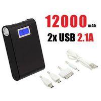Akumulator/Ładowarka Mobilna Power Bank 12000mAh!! + LCD + Latarka. - sprawdź w wybranym sklepie