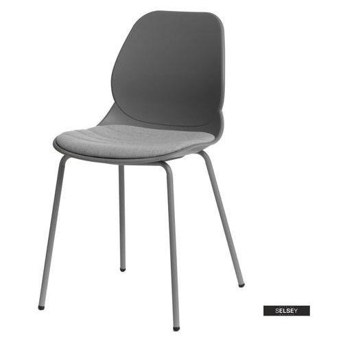 D2 Selsey krzesło layer z tapicerowanym siedziskiem szare (5903025296661)
