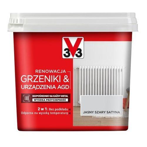 Farba renowacyjna V33 Grzejniki & AGD jasny szary satyna 0,75 l, 118707