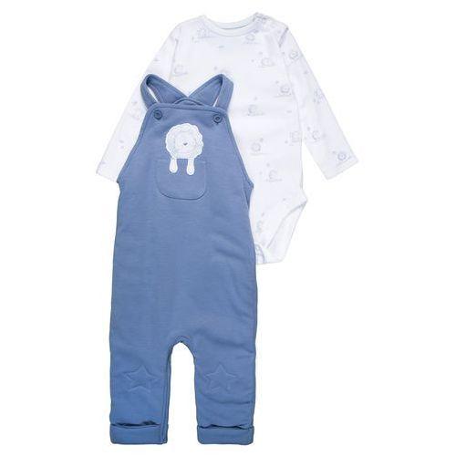 mothercare INTERLOCK WADDED STAR KNEE DUNGAREE BABY SET Body blue